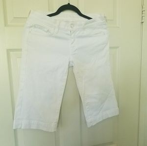 7 for All Mankind Women White jean shorts sz 27